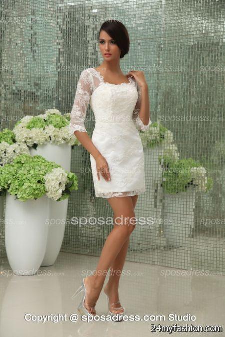 Short white wedding dresses 2017 2018 b2b fashion for White wedding dress short