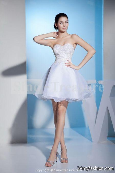 White Short Wedding Dresses  : Short white wedding dresses b fashion