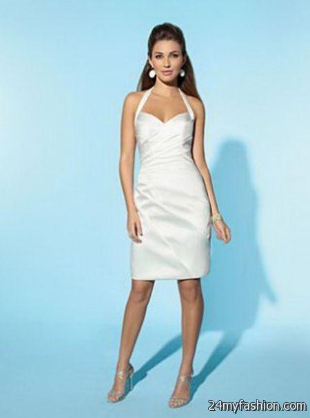 Short white wedding dresses 2017-2018 | B2B Fashion