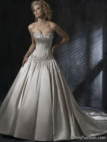 Silver wedding dresses 2017 2018 b2b fashion for Silver dresses to wear to a wedding