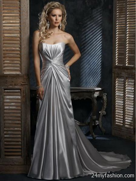 Silver wedding dresses 2017 2018 b2b fashion for Silver wedding dresses 25th anniversary