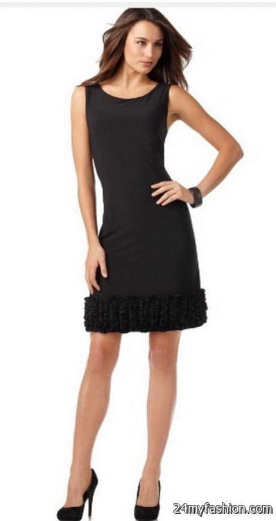 Tiana b black dress illusion
