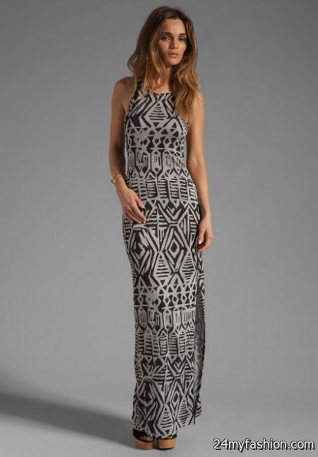 Tribal print maxi dress 2017-2018 | B2B Fashion