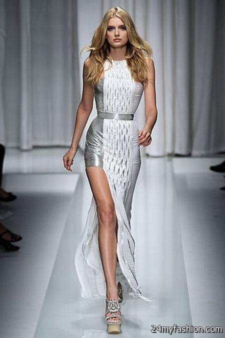 Versace dresses runway 2018