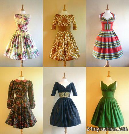 Vintage inspired dresses 2017-2018 » B2B Fashion