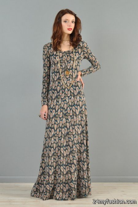 Vintage maxi dress 2017-2018 » B2B Fashion