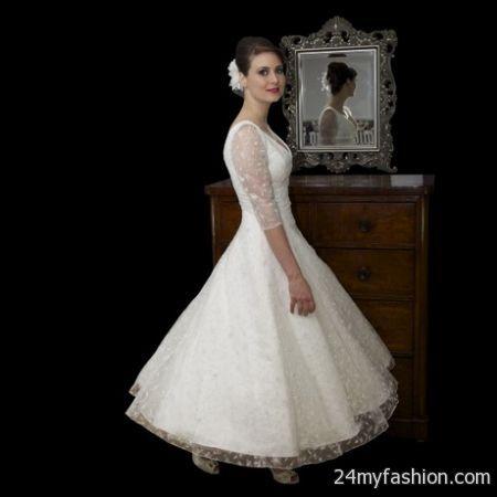 Vintage Tea Length Prom Dress