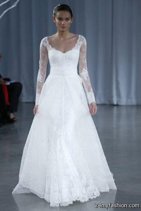 Wedding dresses with long sleeves 2017 2018 b2b fashion for Long sleve wedding dress