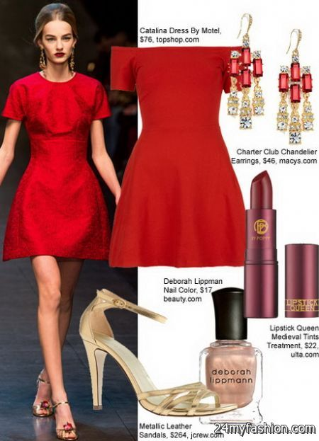 What To Wear With A Red Dress 2017 2018 B2B Fashion
