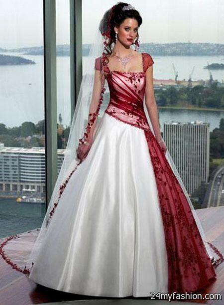 White and red wedding dresses 2017-2018 | B2B Fashion