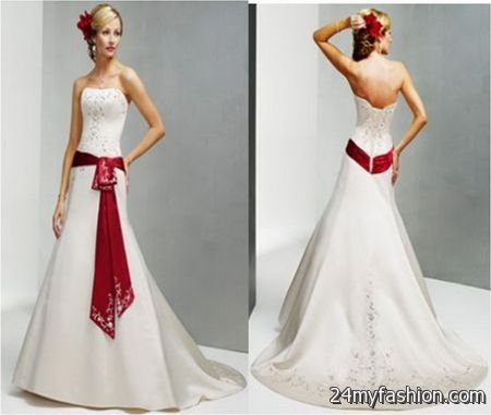 White and red wedding dresses 2017-2018 | B2B Fashion