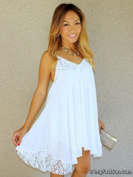 White babydoll dress 2017-2018 » B2B Fashion