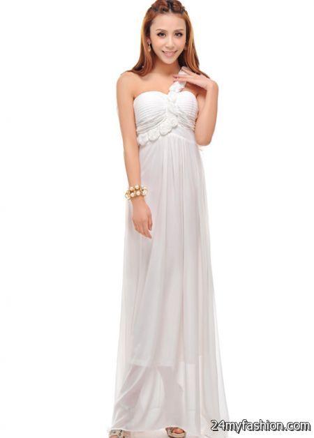 white chiffon maxi dress - Dress Yp