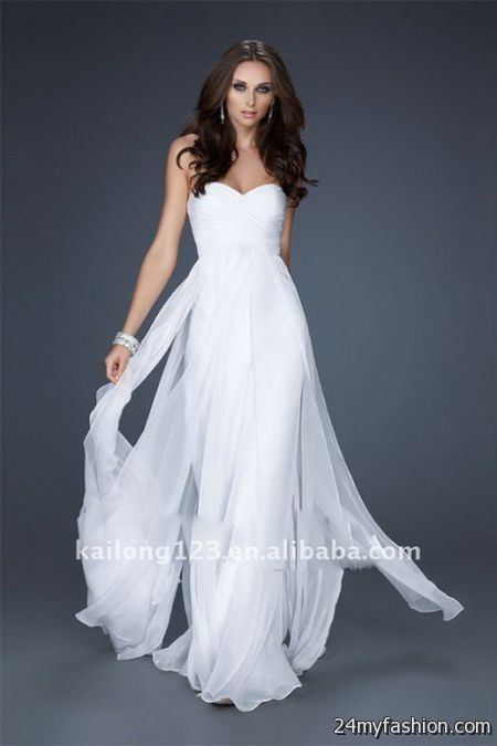 Collection White Flowy Dresses Pictures - Reikian