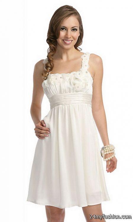 White junior dresses 2017-2018 » B2B Fashion
