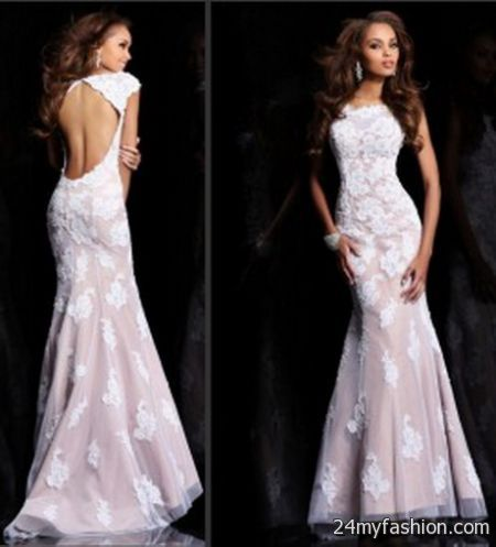 White Lace Prom Dress 2017 2018 B2b Fashion