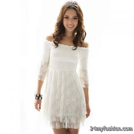 White lace summer dress 2017-2018 » B2B Fashion