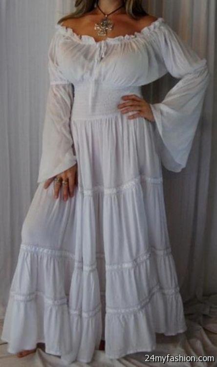 white peasant dress 20172018 b2b fashion