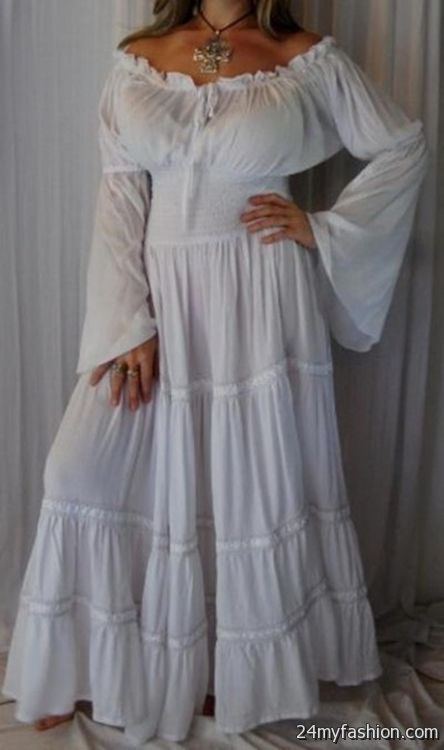 white peasant dress dress yp