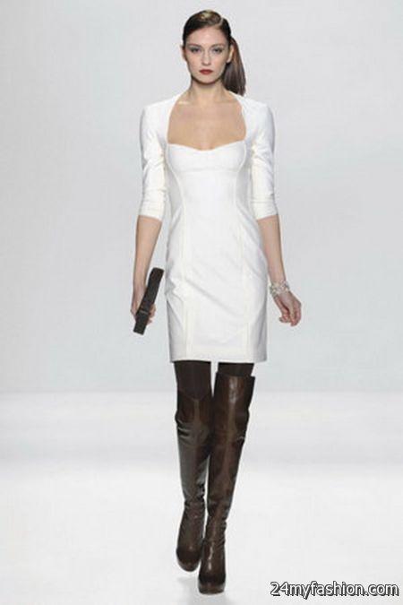 Winter white dresses 2017-2018