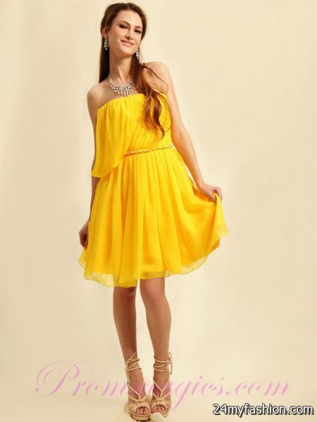 Cocktail Dresses Yellow 117