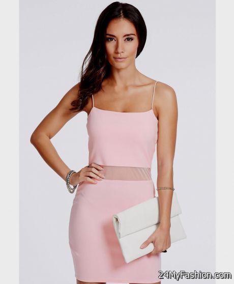 Baby Pink Bodycon Dress 2017 2018 B2b Fashion