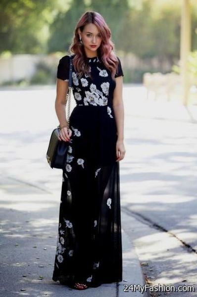 Black Maxi Dress Outfits Tumblr 2017 2018 B2b Fashion