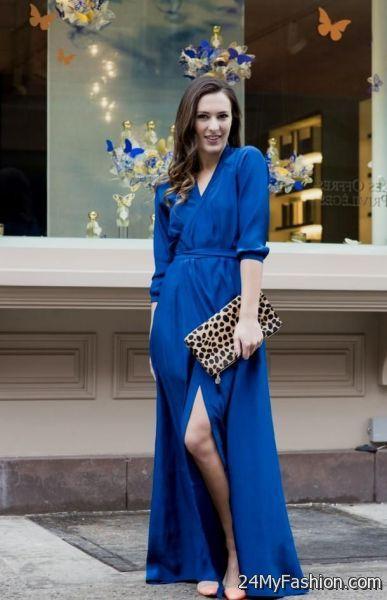 9ea71d903da9 blue maxi dress outfit 2017-2018