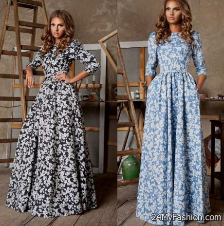 Fashion long dresses for women 2018