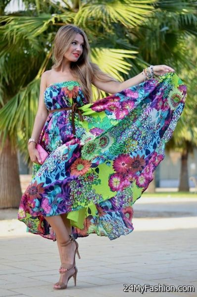 Maxi dress outfits 2018