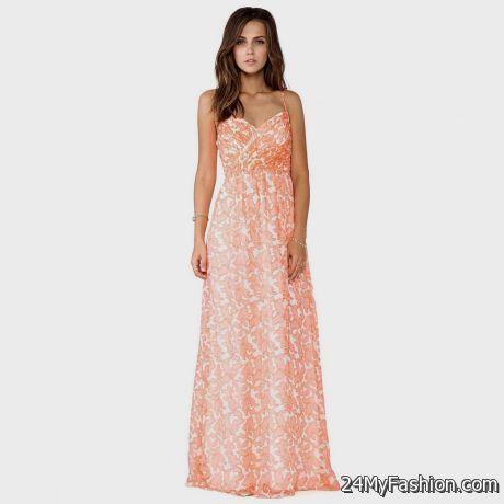 coral casual maxi dress 2017-2018 » B2B Fashion