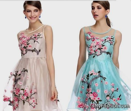 cute spring floral dresses 2017-2018 » B2B Fashion