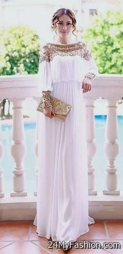 Flowy white maxi dresses