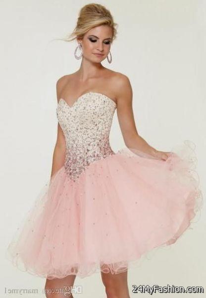 Short Prom Dresses 2018 Pink 90