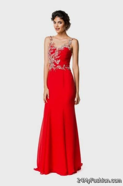 Red gatsby prom dresses
