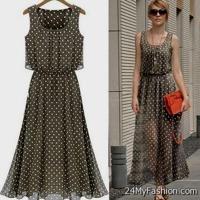 Summer maxi dresses for women 2018 short