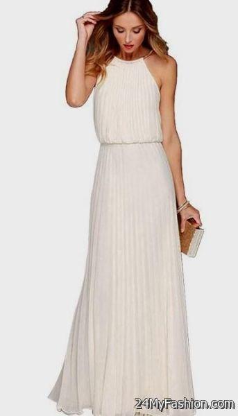 Halter white maxi dress
