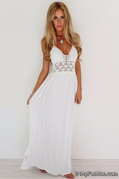 White Summer Maxi Dresses 2017 2018 B2b Fashion