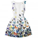 Fashion-Teen-Girl-Clothes-2017-Sleeveless-Butterflies-Print-font-b-Teenagers-b-font-Party-font-b