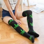 multicolor-maple-leaf-knee-high-socks-girls