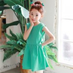 new-fashion-summer-dress-girl-2017-clothes-casual-children-green-sundress-for-teenagers-kids-sleeveless-school
