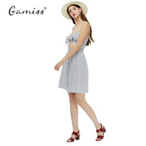1Gamiss-2017-Women-Summer-Dresses-Cotton-and-Linen-Backless-Spaghetti-Strap-Dress-Blue-Striped-Casual-New