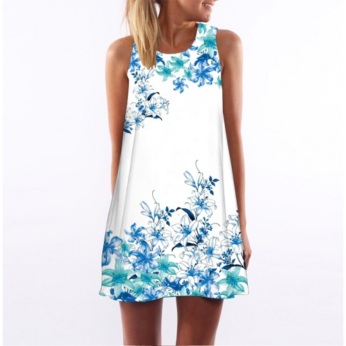 Dresses Summer Long Dress Floral Print Boho Beach Dress Tunic Maxi Dress Women Evening Party Dress Sundress Vestidos de festa XXXL Rated /5 /5(K).