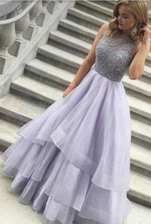 Grey Prom Dresses 2018