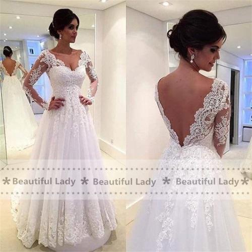 Graceful-font-b-Lace-b-font-Tull-font-b-Wedding-b-font-font-b-Dress-b