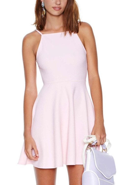 Light-Pink-Casual-Dress-2016-2017-Fashion-Trend-0