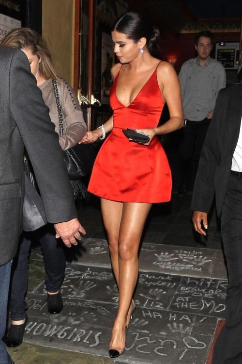 Selena gomez pink dresses