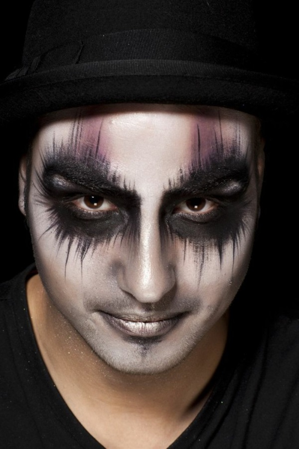 60 best halloween makeup ideas for men b2b fashion. Black Bedroom Furniture Sets. Home Design Ideas