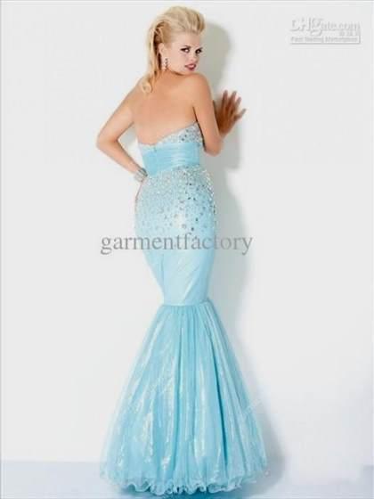 baby blue mermaid dresses 2018