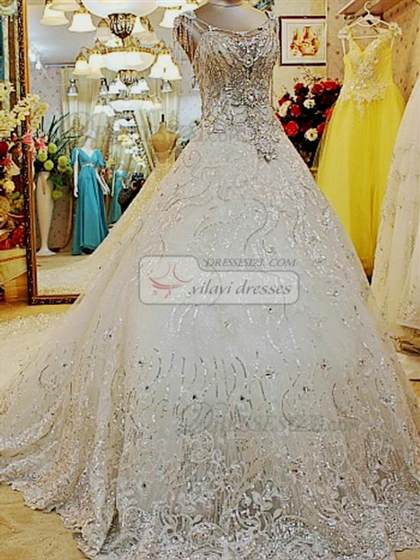 Ball Gown Wedding Dresses With Bling And Sleeves 2017 2018